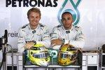 Nico Rosberg und und Lewis Hamilton (Mercedes)