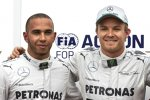 Lewis Hamilton und Nico Rosberg (Mercedes)