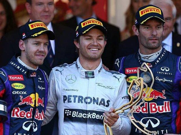 Nico Rosberg, Sebastian Vettel, Mark Webber