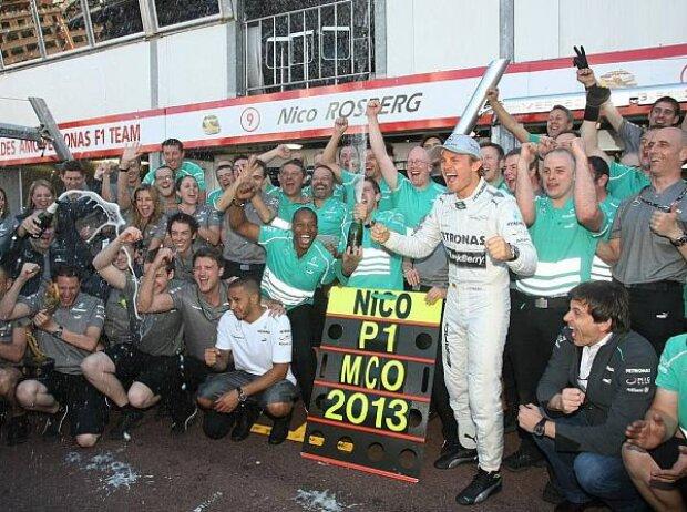 Nico Rosberg und sein Mercedes-Team