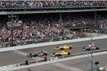 Zieleinlauf: Tony Kanaan vor Carlos Munoz, Ryan Hunter-Reay und Marco Andretti