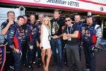Hayley Roberts, David Hasselhoff und Felix Baumgartner zu Gast bei Red Bull