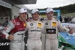 Edoardo Mortara (Rosberg-Audi), Bruno Spengler (Schnitzer-BMW) und Marco Wittmann (MTEK-BMW)