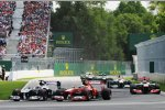 Pastor Maldonado (Williams) und Felipe Massa (Ferrari)