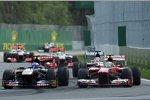 Daniel Ricciardo (Toro Rosso) und Felipe Massa (Ferrari)