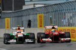 Felipe Massa (Ferrari) und Adrian Sutil (Force India)