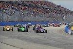 Start: Marco Andretti, James Hinchcliffe und Ryan Hunter-Reay vorn