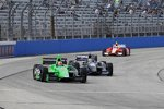 James Hinchcliffe (Andretti), Tony Kanaan (KV) und Ernesto Viso (Andretti)