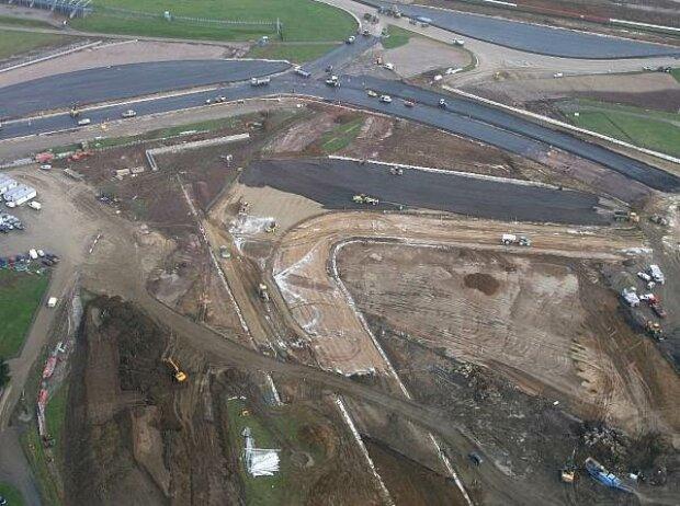 Bauarbeiten in Silverstone