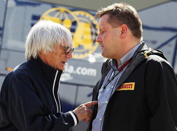 Bernie Ecclestone und Paul Hembery