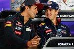 Sebastian Vettel (Red Bull) und Daniel Ricciardo (Toro Rosso)