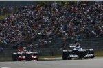 Valtteri Bottas (Williams) und Sergio Perez (McLaren)