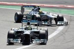 Nico Rosberg und Lewis Hamilton (beide Mercedes)