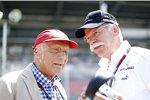 Niki Lauda und Dieter Zetsche (Mercedes)