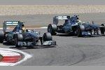 Lewis Hamilton und Nico Rosberg (beide Mercedes)
