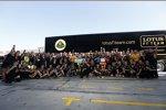 Das Lotus-Team feiert die Plätze zwei und drei