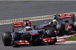 Jenson Button und Sergio Perez (beide McLaren)