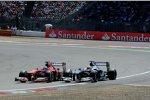 Fernando Alonso (Ferrari) und Pastor Maldonado (Williams)