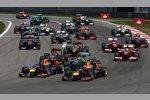 Start zum Großen Preis von Deutschland mit Sebastian Vettel und Mark Webber (beide Red Bull) an der Spitze