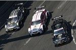 Roberto Merhi (HWA-Mercedes), Andy Priaulx (RMG-BMW) und Joey Hand (RBM-BMW)