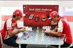 Pedro de la Rosa und Fernando Alonso (Ferrari)