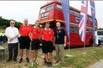 John Booth, Graeme Lowdon und Max Chilton (Marussia)