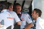 Sam Michael, Martin Whitmarsh und Jenson Button (McLaren)