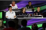 John Booth, Cyril Abiteboul, Toto Wolff, Claire Williams und Franz Tost