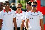 Rodolfo Gonzalez (Marussia), Max Chilton (Marussia) und Jules Bianchi (Marussia)