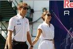 Jenson Button (McLaren) mit seiner Freundin Jessica Michibata