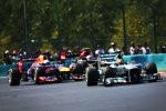 Lewis Hamilton (Mercedes) und Sebastian Vettel (Red Bull)