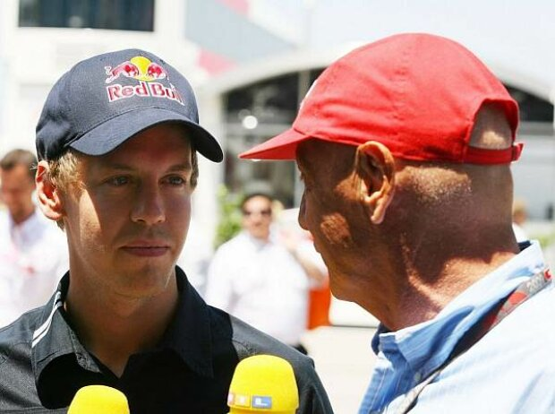 Sebastian Vettel und Niki Lauda