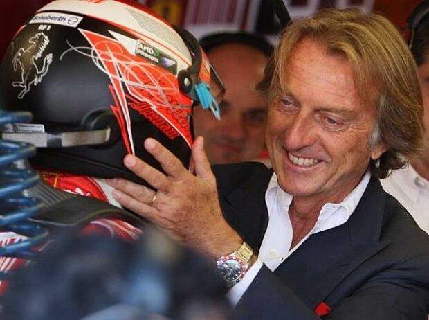 Kimi Räikkönen mit Luca di Montezemolo