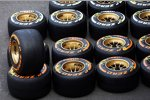 Reifen für den Grand Prix in Belgien