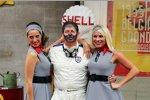 Martin Brundle mit den Shell-Models