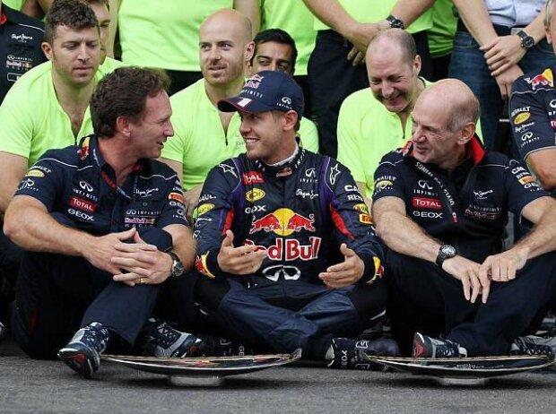 Sebastian Vettel, Christian Horner, Adrian Newey