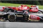 Felipe Massa (Ferrari) und Kimi Räikkönen (Lotus)