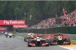 Sergio Perez (McLaren) und Romain Grosjean (Lotus)