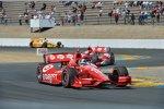 Dario Franchitti, Scott Dixon (beide Ganassi) und Ryan Hunter-Reay (Andretti)