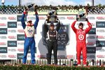 Das Sonoma-Podium: Will Power, Justin Wilson und Dario Franchitti
