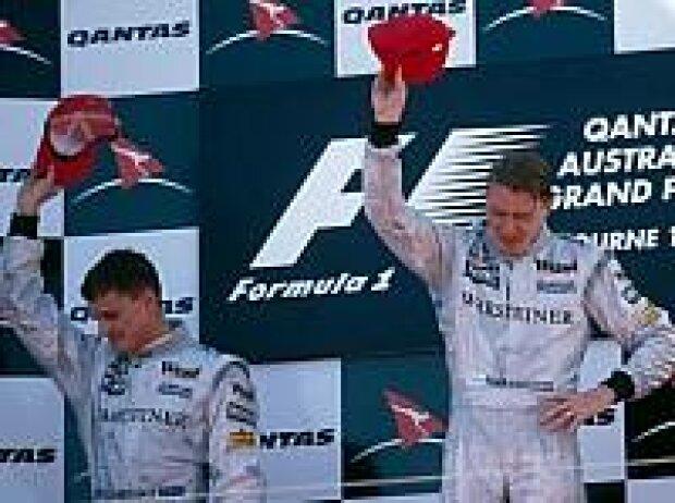 David Coulthard und Mika Häkkinen