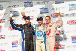 Das Podium in Baltimore: Simon Pagenaud, Josef und Sebastien Bourdais