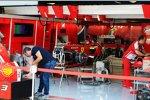 Vorbereitungen bei Ferrari