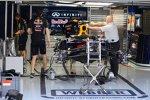 Vorbereitungen bei Red Bull