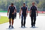Williams beim Track-Walk