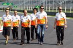 Force India beim Track-Walk