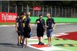 Sebastian Vettel (Red Bull) beim Track-Walk