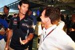 Mark Webber und Christian Horner (Red Bull)