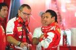 Stefano Domenicali und Felipe Massa (Ferrari)