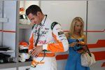 Adrian Sutil (Force India) und seine Freundin, Jennifer Becks